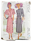 1948 Vintage McCall Sewing Pattern 7251 Womens Dress 2 Styles Sz 20 38 Bust 8536