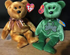 2 TY BEANIE BABY BEARS MINT/MINT TAGS: GRATEFULLY (ORIGINAL) & LUCKIER (2.0)
