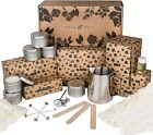 MAKEMELT Candle Making Kit for adults with Soy Wax
