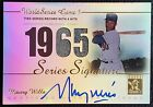 Maury Wills 2003 Topps Tribute Autograph Auto Jersey 1965 World Series Dodgers