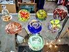 VINTAGE ART GLASS PAPERWEIGHTS LOT OF 8