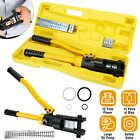 12 Ton 18 Hydraulic Wire Terminal Crimper Crimping Tool Pliers Set w 12 Dies