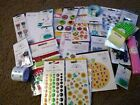 Crafts Doodlebug Embellishment Lot 140+ Stickers Bling Ribbon Variety of Themes