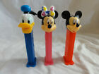 Pez Lot 3 Disney Donald Duck Issue H, Minnie Mouse Issue E Wink, Mickey Mouse I
