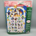 Dimensions Christmas NATIVITY ADVENT CALENDAR Felt Applique Kit 8149