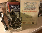 David Winter Cottages Christmas Special 1992 Scrooge's School  in Box & COA