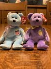 Ty Beanie Baby EGGS II 2001 And EGGS III 2002 EASTER BEARS Plush with TAGS