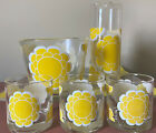 RETRO Colony Yellow Flower Power Pitcher 6 piece Set