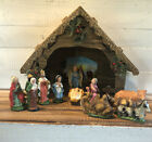 Vintage Midcentury 12 Pieces Nativity Figures  Creche Christmas Jesus Wisemen