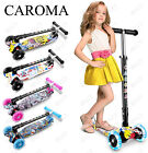CAROMA Scooter For Kids 3 Wheel Kick Scooter For Toddler Girls Boys Blue Pink