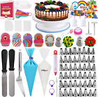 Cake Decorating Supplies Upgrade 322PCS with 1 Cake Turntable 48 Numbered Icin