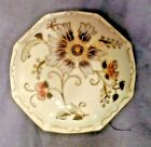 VINTAGE ZSOLNAY FLORAL TRINKET BOX,8 SIDED & HAND PAINTED BONE CHINA, HUNGARY