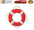 Life Saver Foam Ring Webbing Straps White 15 Float Approved Boat Ship Pool Buoy