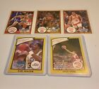 Lot of 5 1990 Starting Lineup Cards with Karl Malone, Spud Webb & Isiah Thomas