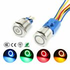 Waterproof 22mm Led 6-220v Car Instrument Ss Metal Push Button Switch Momentary