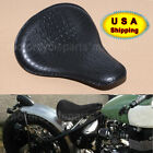 Retro Vintage Alligator Leather Style Solo Driver Seat For Harley Dyna Kawasaki