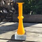 Vintage Holmegaard Carnaby Yellow Cased Glass Vase By Christer Holmgren 105