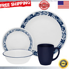 Dinnerware Set 16 Piece Glass Dishes Dinner Plates Bowls Mug Microwave Oven Safe