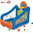 Inflatable Hoop It Up Play Center Ball Pit with Basketball Hoop Indoor Outdoor