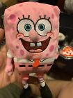 Ty Beanie Baby SPONGEBOB PINKPANTS (Breast Cancer Awareness) MINT with MINT TAGS