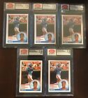 1983 Darryl Strawberry Topps Traded Rookie group of 5 SCD graded 7.5 cards N-psa
