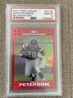 2007 topps chrome adrian peterson red refractor psa 10
