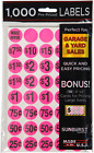 1000 Pcs Yard Garage Sale Price Stickers Pre-priced Labels Self Adhesive Tags