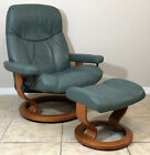 Ekornes Stressless Modern Leather Recliner Chair  Ottoman Large Consul Model