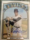 2021 Topps Heritage ROD CAREW AUTO REAL ONE AUTOGRAPH CARD TWINS SSP RARE!!