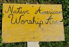 Vintage Wooden Painted Native American Worship Area 11x17