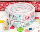 DOTS AND POSIES Quilt Fabric by Poppie Cotton 25 Strip Roll 44 Pieces