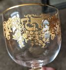 Antique Baccarat Crystal Gold Encrusted Wine Glass