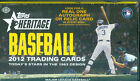 2012 Topps Heritage Baseball Hobby Box - Trout First Heritage card