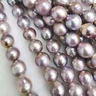12 14 mm Mauve Pink Large Nucleated Edison Round Genuine Freshwater Pearls