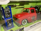 1 24 Jada JUST TRUCKS 1955 Chevy Stepside Tow Truck West Wreckers Red 32710