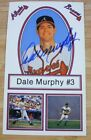 DALE MURPHY AUTOGRAPH BRAVE TEAM ISSUE OVERSIZE CARD - 3 1 2