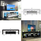 70TV Stand High Gloss Unit Cabinet Drawers LED Light Living Room Furniture