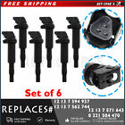 For BMW Ignition Coil 6 Pack Updated W Connector Boot New Bosch 0221504470