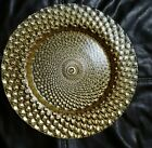 Gold Glass Chargers 7 plates included Brand new