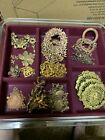 Large Vintage Lot Assorted Metal Findings  Interesting And Beautiful