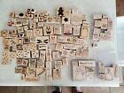 HUGE lot of mixed stampin up rubber stamps and other mounted stamps