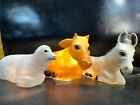 General Foam Nativity Cow Sheep  Donkey Lighted Blow Mold All Work