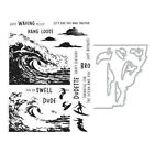 Hero Arts Color Layering BARREL WAVE Heroscape Clear Stamps or Stamp  Dies