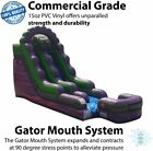 Commercial Inflatable Bounce House Wet Dry Purple Marble Water Slide With Blower