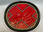 Clay Mesa 14 Inch Native American Red Decorative Wall Plate By Richard St John