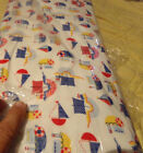 8 yards Fabric Bolt Nautical Boats 100  Cotton Flannel By Create It New