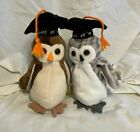 TY Beanie Babies Baby Wise and Wiser the Owl Class of 1998/1999 MWT