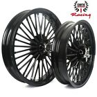 New Front Rear Cast Wheels Fat 36 spokes for Harley Dyna Softail Touring 21 16