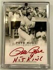 Pete Rose 02 10 Phillies Reds On Card Autographed 2011 Leaf Baseball Card