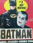 1989 TOPPS BATMAN MOVIE CARDS AND STICKERS WAX BOX 36 PACKS BOX IS ROUGH